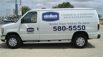 Our Nimbus Drinking Water van used for installs and services of R.O.'a and water softeners